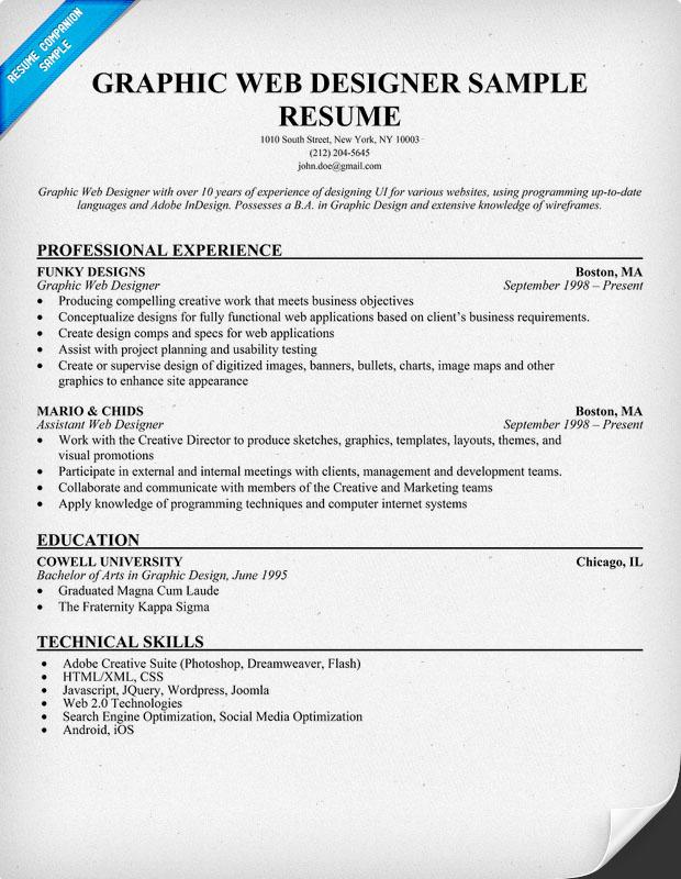 graphic design sample resume graphic design resume example job sample resume for graphic designer