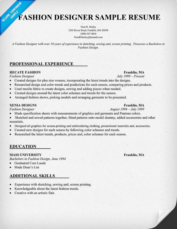 esl dissertation introduction writer sites for university sample cover letter template for fashion designer sample resume - Fashion Designer Resume Sample