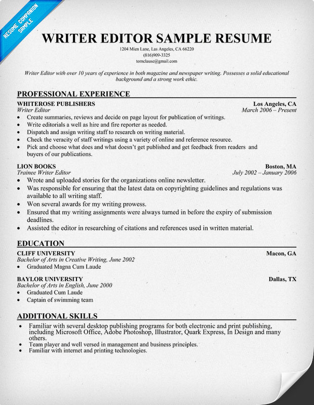 Creative Technical Writer Resume  Technical Writer Resume