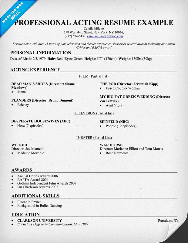 Dance Resume Example. Imagerackus Nice Sample Dance Resume Easy