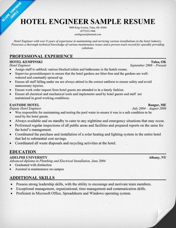 additional hospitality industry resume samples while resumes