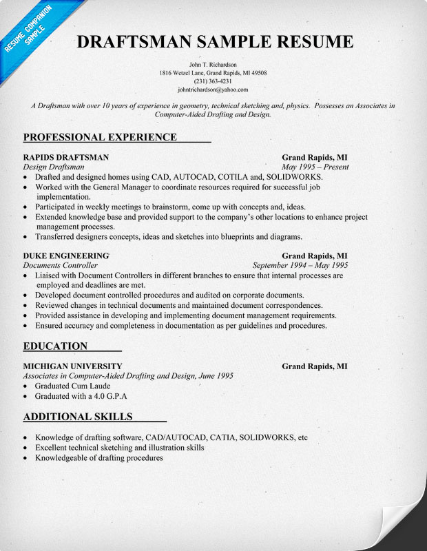 architectural draftsman cv sample letter chemical engineering