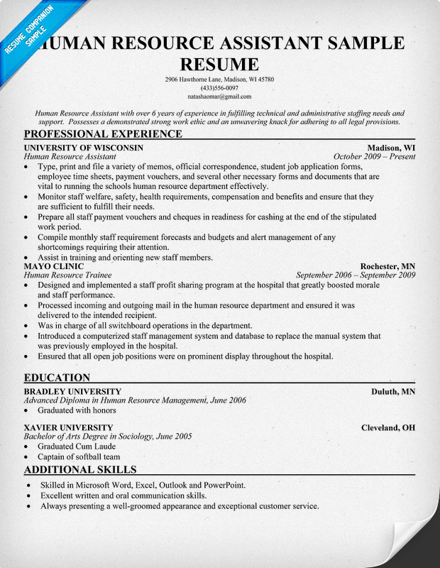administrative assistant resume samples human resources assistant