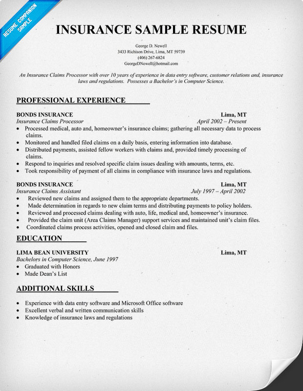 Insurance Agent Resumes Samples. Insurance Broker Resume Samples