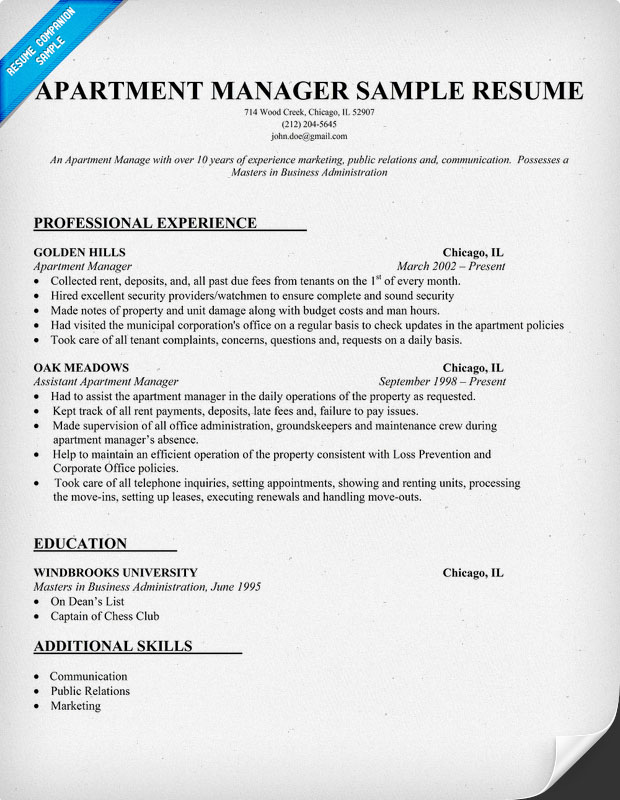 maintenance manager resume template facilities manager resume