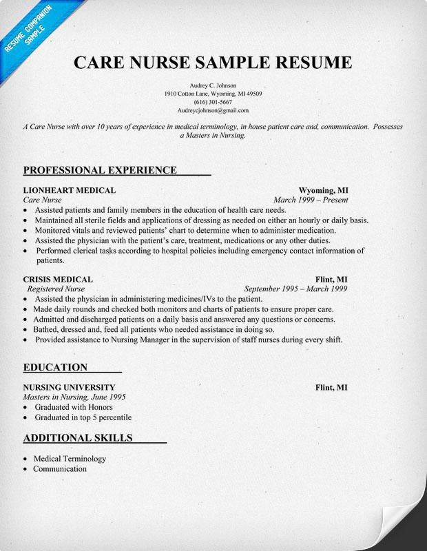 Resume Nurse Example. Nurse Resume Nurse Cover Letter. Nursing