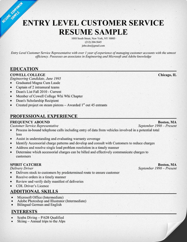 patient service representative resume template resume builder domov - Entry Level Customer Service Resume Sample