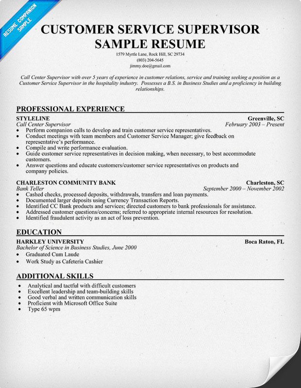 Resumes Customer Service Skills. Resume Examples For Customer