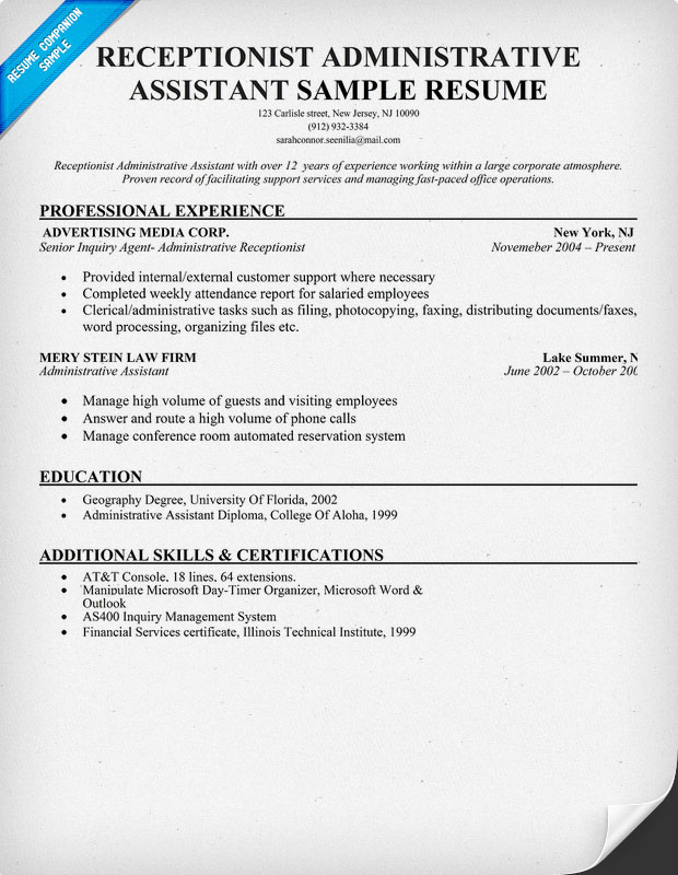 resume buzzwords best template collection salon receptionist – Sample Resumes for Receptionist