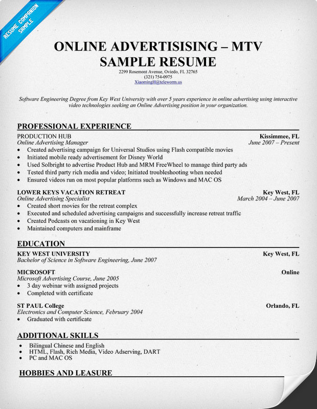 Free Resumes Online Examples. Online Resume Template On Pinterest