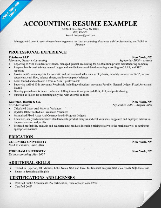 Accounting Resume Tips Resume Sample And Tips Resume Genius