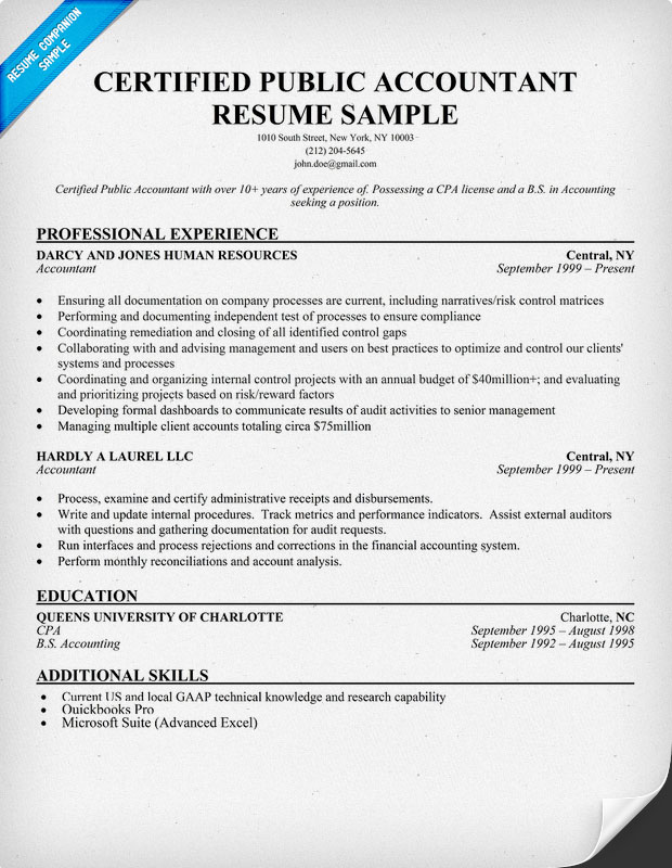 Cpa Resumes Samples. Free Services Director. Accountant Resumes