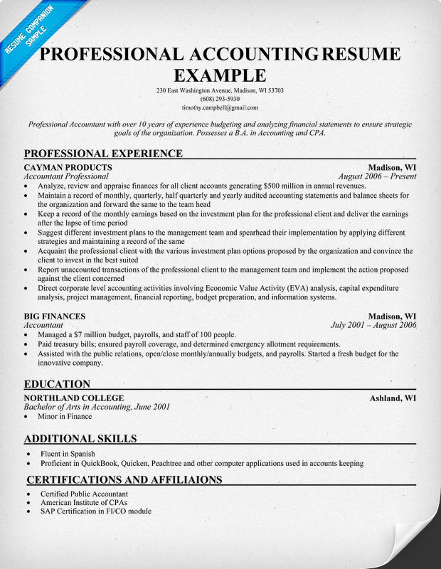 Accounting Sample Resume. Accounting Resume Samples1. Popular