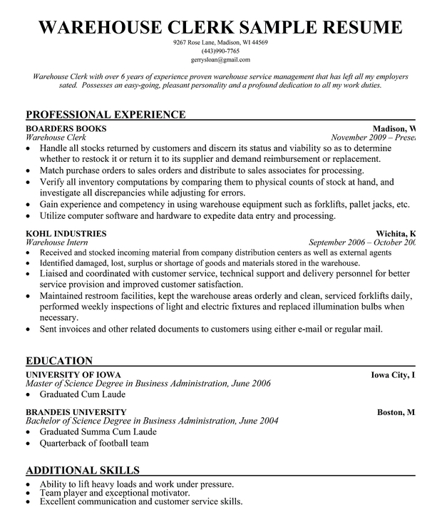 sample clerk resume sample resume sample resume cover letter