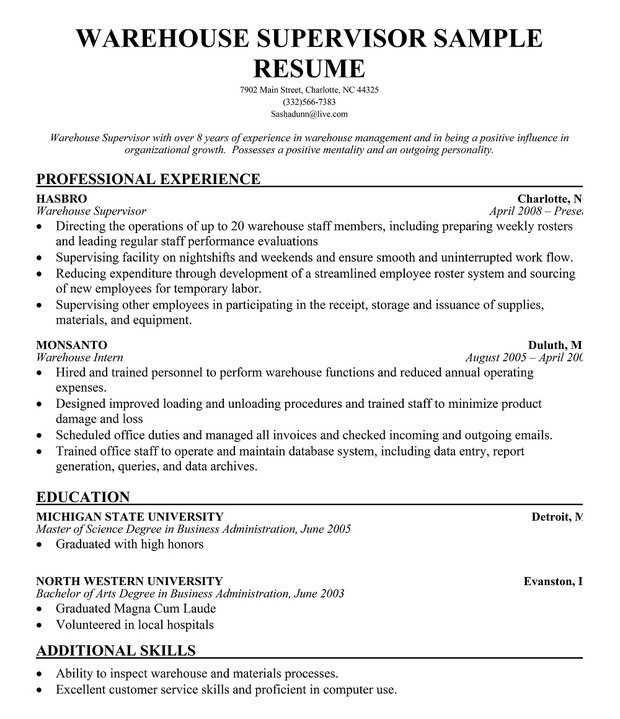 warehouse worker resume sample resume genius warehouse job – Warehouseman Resume