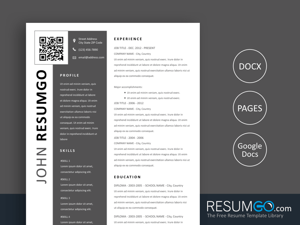 Linkedin Qr Code Resume
