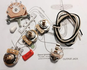 TAOT Stratocaster® Wiring Kit  CTS 450G, Oak Grigsby 5way, | Reverb