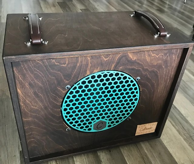 Colorado Raw Tube Amps Greenback Or Creamback 12 Open Cabinet 2018 Turquoise