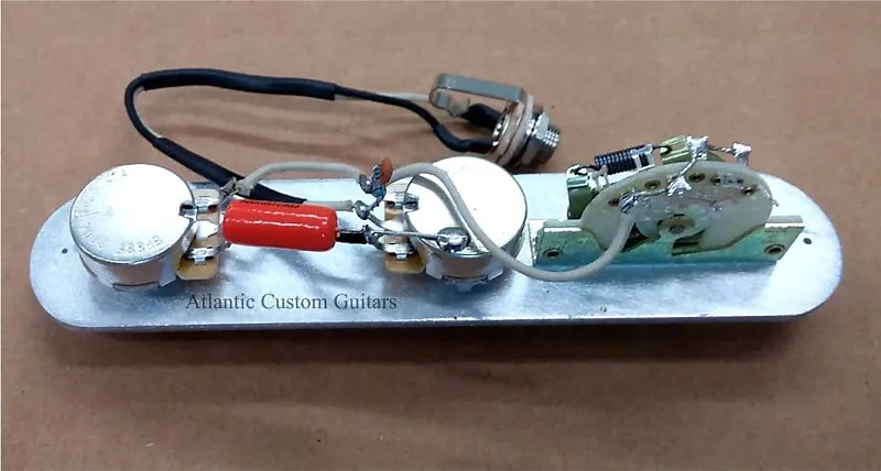 Upgraded Telecaster 3 Way Wiring Harness Cts Crl Treble