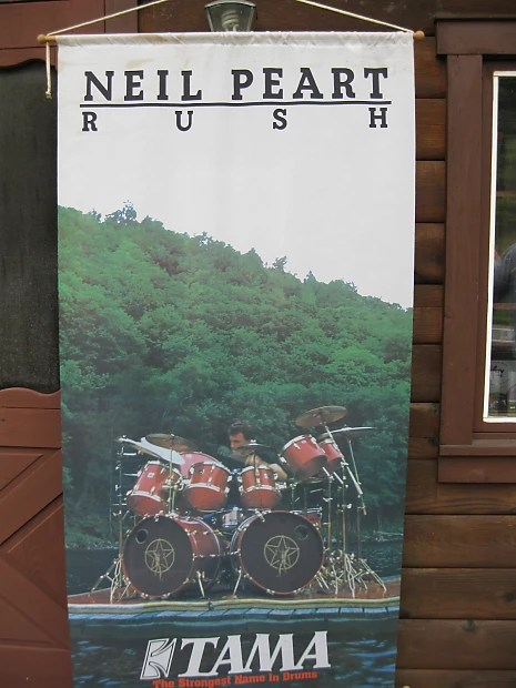 neil peart tama drums banner mint