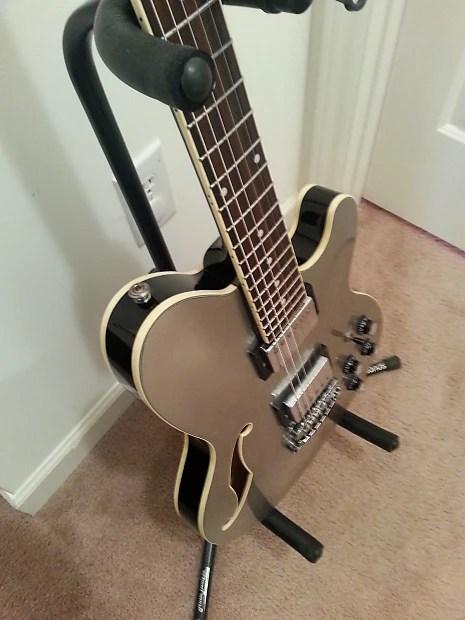 Ibanez Tm71 Talman Artcore Semi Hollow Body Guitar Silver