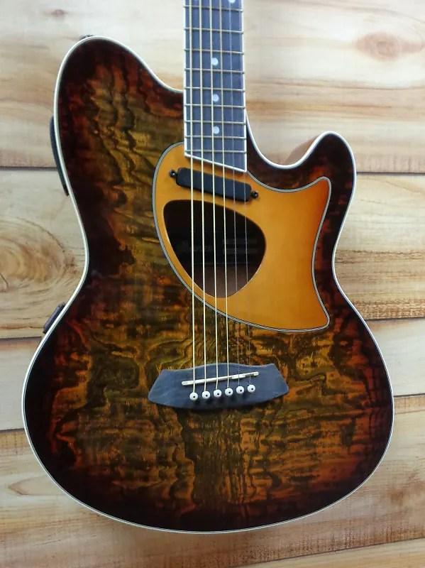 New Ibanez Talman Tcm50 Acoustic Electric Guitar Vintage