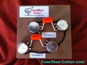 Les Paul 50's Wiring Harness  022uf Orange Drop Tone | Reverb