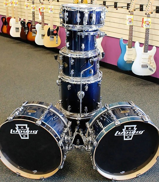 Ludwig Epic Modular Drum Kit Shell Pack  Blue Fade Finish    Reverb Ludwig Epic Modular Drum Kit Shell Pack  Blue Fade Finish  Excellent Jazz  Kit  Missing Parts
