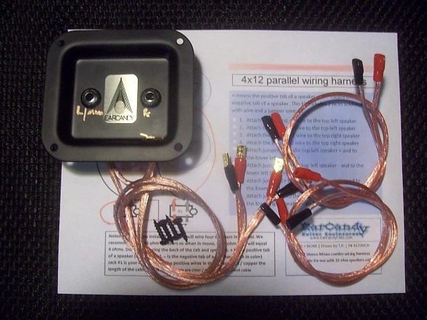 Earcandy 4x10 4x12 Guitar Speaker Cab Wiring Harness 8 16 Ohm Series Parallel No Soldering P Out