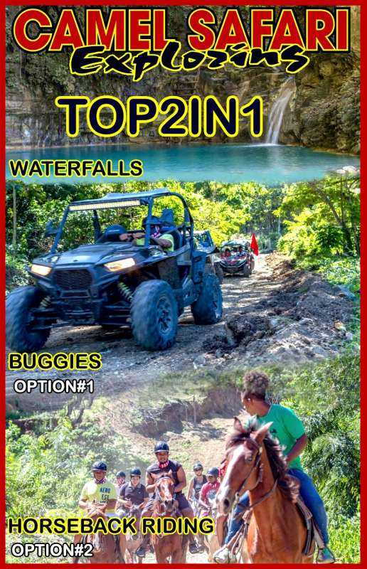 Waterfalls of Damajagua and safari buggy or horseback riding