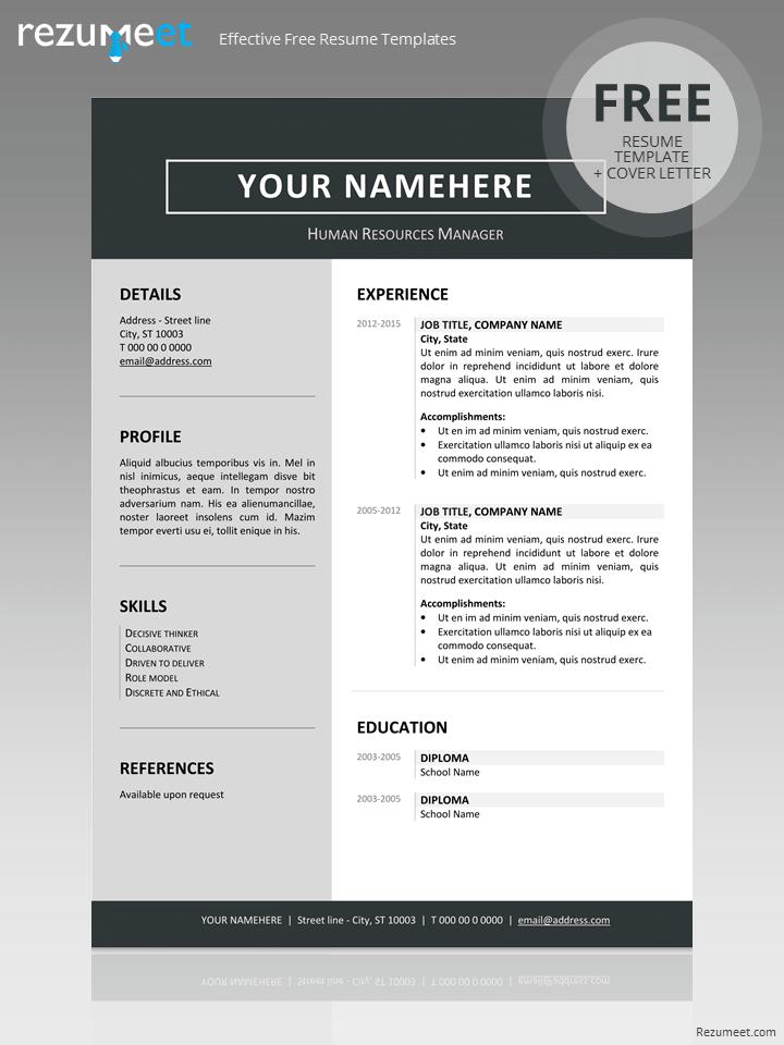 Free Modern Resume Word Template