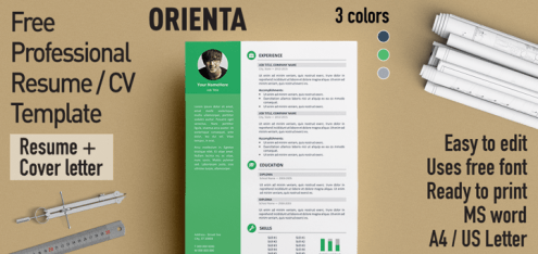 Orienta   Free Professional Resume   CV Template