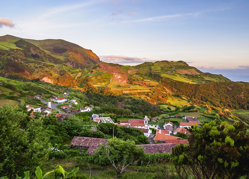 View of Lajedo on Flores Island, Portugal