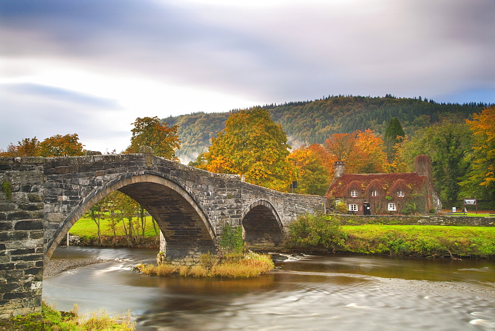 Stock photo of llanwrst Bridge Snowdonia, North Wales