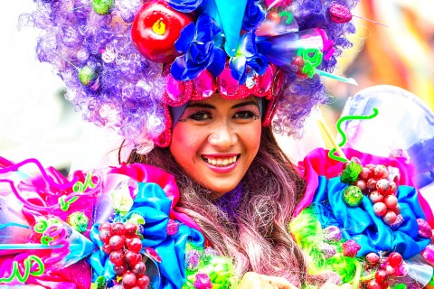Stock photo of a girl at Jember Fashion Festival and Carnival, East Java