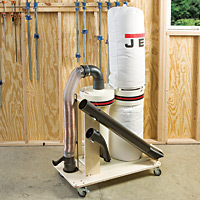 Dust Collector Rolling Cart - FREE Downloadable Plan!