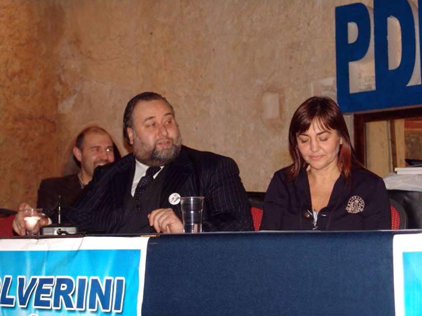Fiorito con la presidente Regione Lazio Renata Polverini