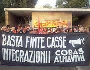 La protesta dei dipendenti Almaviva (Jpeg)