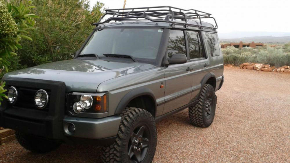 overland roof rack low profile height by voyager offroad for land rover discovery ii