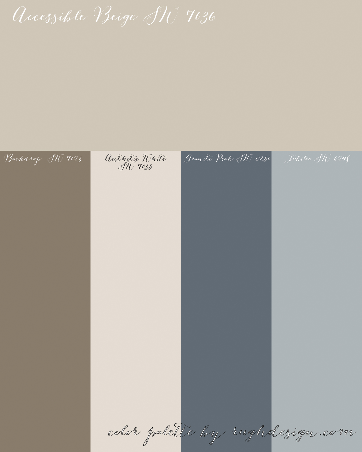 Accessible Beige SW 7036 With A Complementary Color Scheme