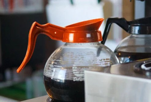 Photo of decaf coffee pot.