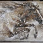 Single Galloping Horse Painting By Yuenan Zhou Saatchi Art