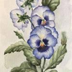 Violets Flower Painting By Ghazaleh Naderian Saatchi Art