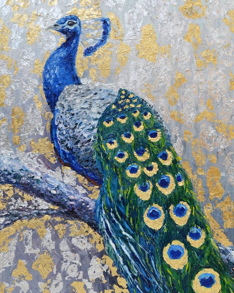 Peacock Painting By Lara Chiga Saatchi Art