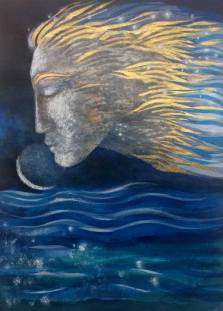 Image result for venus and the moon Painting