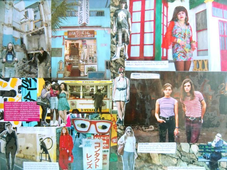 The Street Collage By Carmen Bizarre Saatchi Art