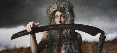 The Owl and The Scythe Painting by Victor Grasso | Saatchi Art