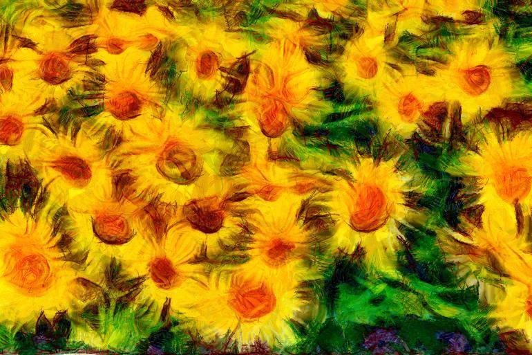 art poster vincent van gogh sunflowers