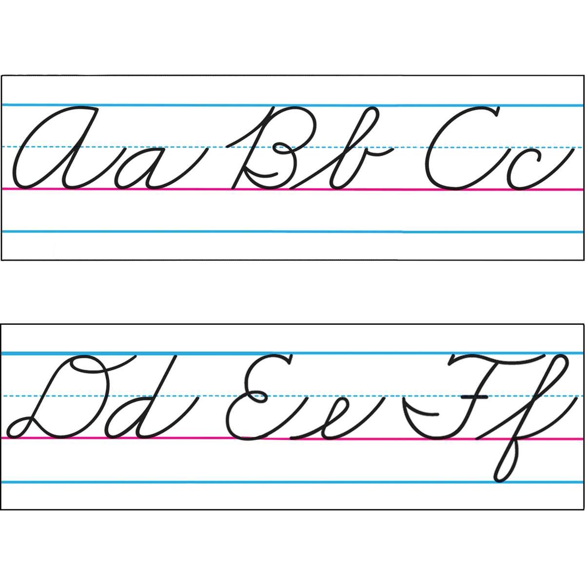 Zaner Bloser Basic Cursive Alphabet Amp Number Line T