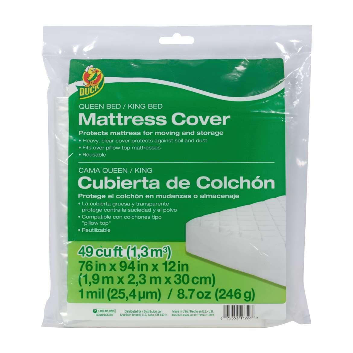 Queen King Bed Mattress Cover 76 X 94 X 12 In